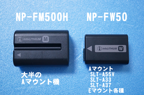 NP-FM500HとNP-FW50